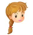 A pretty face of a girl vector image