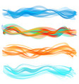 abstract flame wave set vector image vector image