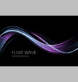 abstract shiny color blue wave design element vector image