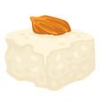 almond dessert turkish delight cube with nut