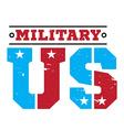 American military emblem vector image