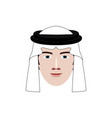 arabian man profile icon vector image vector image