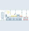 beer on conveyor belt vector image vector image