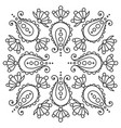 black and white handdrawn mandala tattoo design vector image vector image