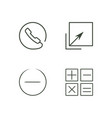 business outline icons set vector image vector image
