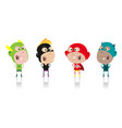 cartoon super heroes kids crew vector image vector image