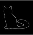 cat the white path icon vector image vector image