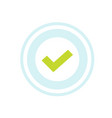 check mark approval stamp icon isolated vector image