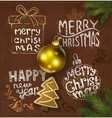 Christmas background on chalkboard vector image vector image