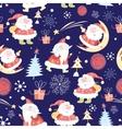 christmas pattern santas vector image
