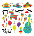 cinco de mayo set of fiesta elements vector image