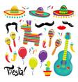 cinco de mayo set of fiesta elements vector image vector image