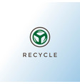 circle leaf leaves recycle environment logo design vector image