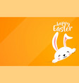 easter bunny hide at the corner cute funny rabbit vector image vector image
