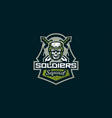 emblem soldier logo military skull vector image vector image