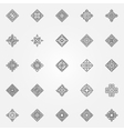 Ethnic geometric icons set vector image vector image