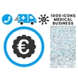 Euro Quality Seal Icon with 1000 Medical Business vector image vector image