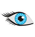 eye human vision view cartoon vector image vector image