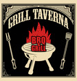 grill taverna bbq and grill design element for vector image