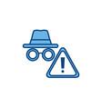 hacker alert internet line and fill vector image