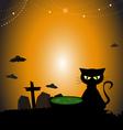 HalloweenDayCat2 380x400 vector image