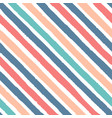 hand drawn diagonal grunge stripes red blue vector image vector image