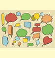 hand drawn speech bubbles and thoughts elements vector image vector image