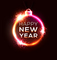 happy new year electric technology background vector image vector image