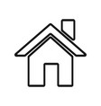 Home icon logo in modern line style