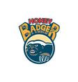 Honey Badger Mascot Claw Circle Retro vector image vector image