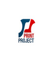 icon for print project vector image vector image