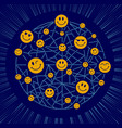 icon world smile day vector image vector image