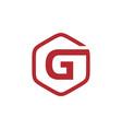 initial g hexagon logo vector image vector image