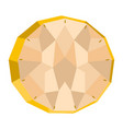 isolated geometric pineapple cut low poly vector image vector image