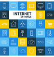 Line Art Internet of Things Icons Set vector image vector image