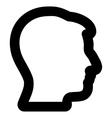 Man Profile Stroke Icon vector image