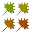 maple leaf set symbol icon design vector image vector image