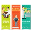 Medical Examination Banners vector image