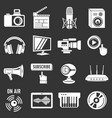 multimedia internet icons set grey vector image vector image