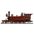 old red american steam locomotive vector image vector image