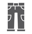 pants glyph icon clothing and casual trousers vector image vector image