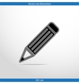 pencil web flat icon vector image