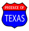 produce of texas vector image vector image