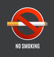 realistic detailed 3d no smoking concept vector image