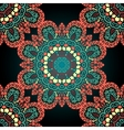 Red and green seamless ornamental pattern Vintage vector image vector image