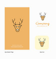 reindeer company logo app icon and splash page vector image