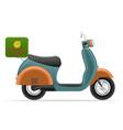 retro scooter 02 vector image