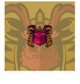 samurai mascot logo vector image vector image