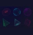 science atom sphere digital grid globe abstract vector image
