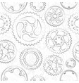 seamless pattern with gears and cogs vector image vector image